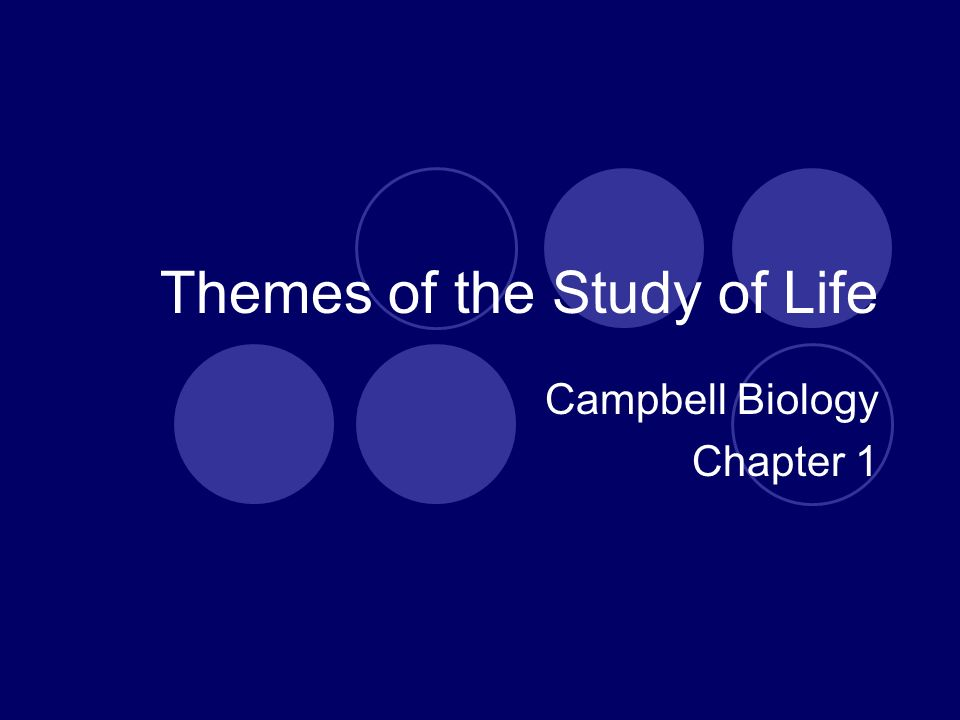 Themes of the Study of Life Campbell Biology Chapter 1