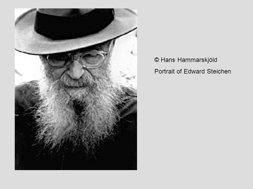 © Hans Hammarskjöld Portrait of Edward Steichen