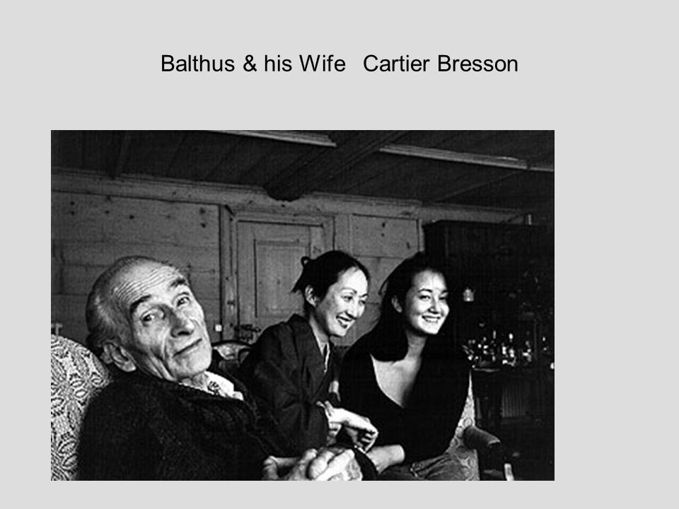 Balthus & his Wife Cartier Bresson