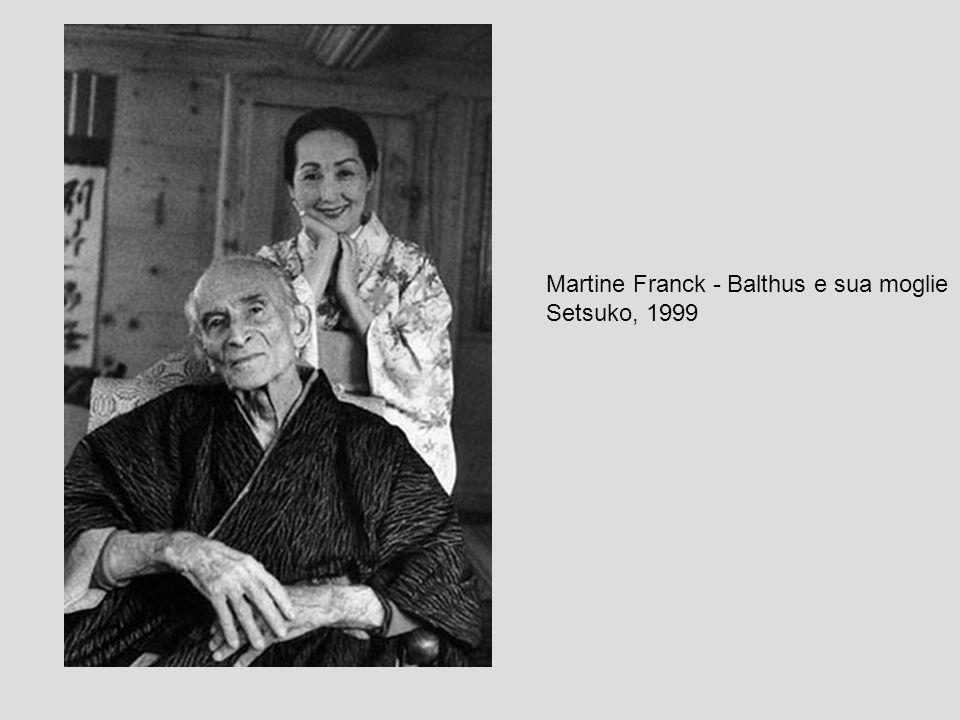 Martine Franck - Balthus e sua moglie Setsuko, 1999