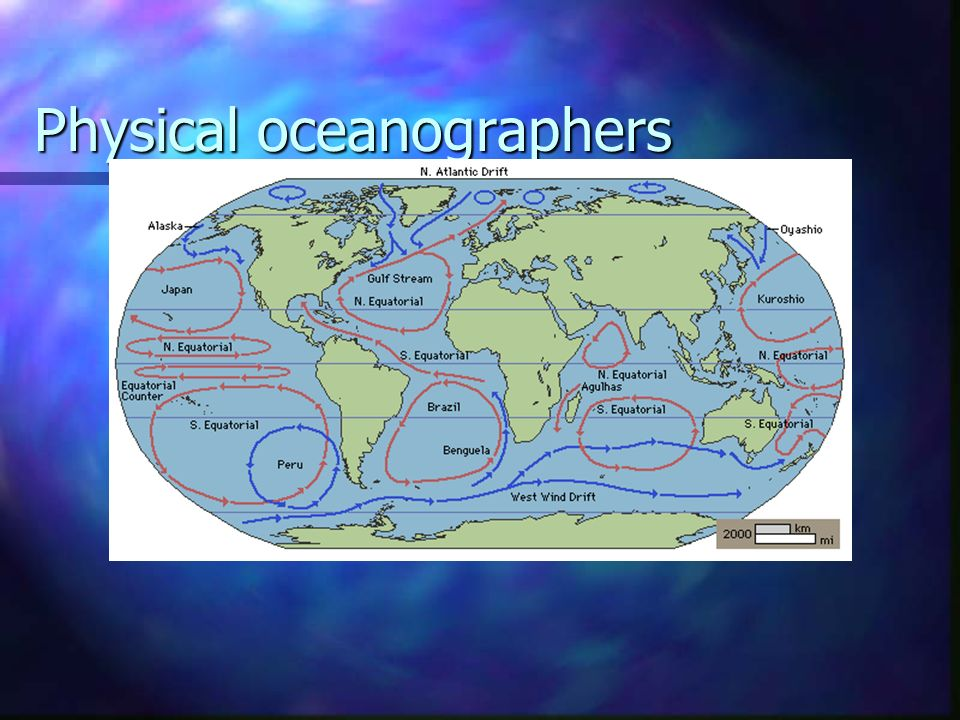 Physical oceanographers