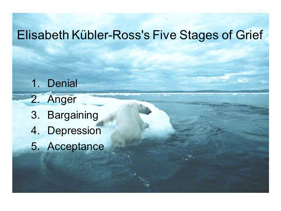 Elisabeth Kübler-Ross s Five Stages of Grief 1.Denial 2.Anger 3.Bargaining 4.Depression 5.Acceptance