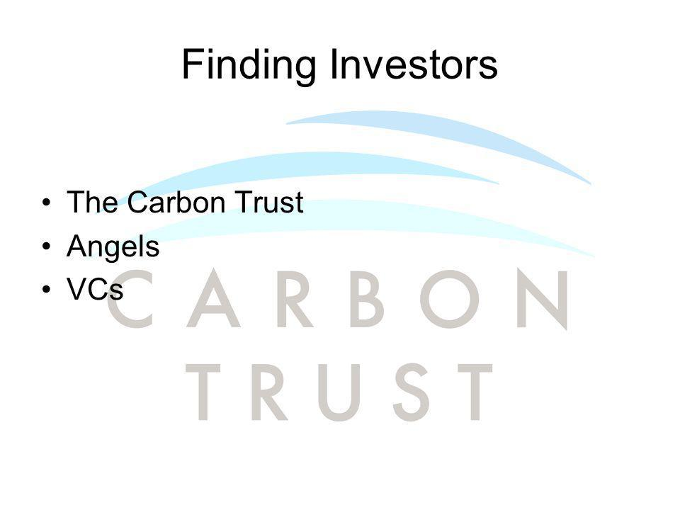 Finding Investors The Carbon Trust Angels VCs