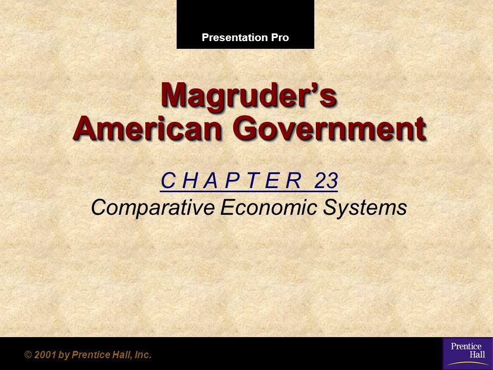 Presentation Pro © 2001 by Prentice Hall, Inc. Magruders American Government C H A P T E R 23 Comparative Economic Systems
