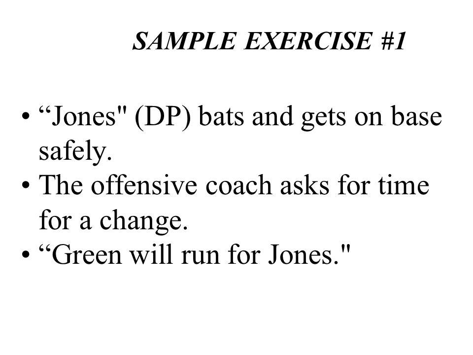 SAMPLE EXERCISE #1 Jones