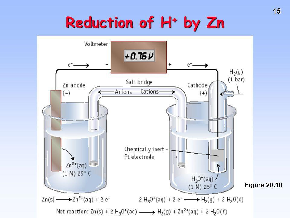 15 Reduction of H + by Zn Figure 20.10