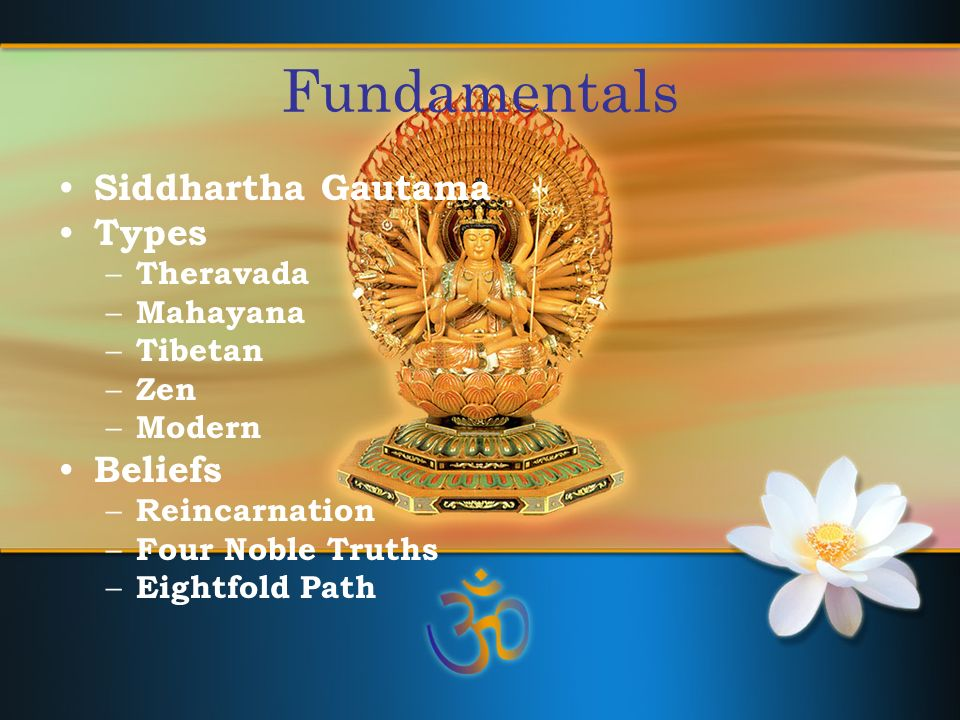 Buddhism Follow the Noble Eightfold Path The Middle Way