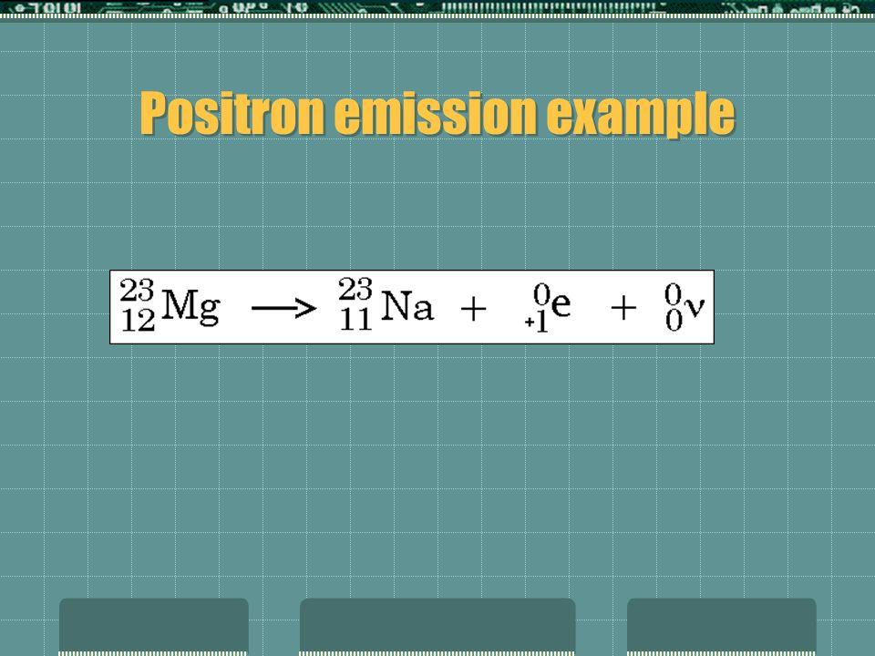 Positron emission example