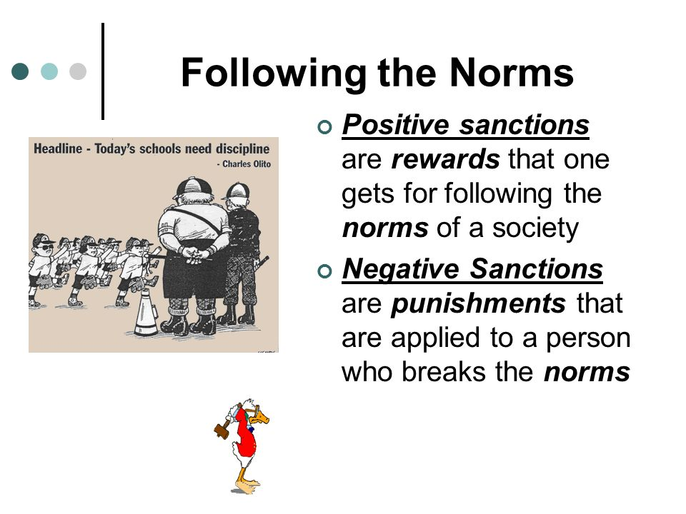 Rules and Socialization Socialization is the process of learning societys rules Norms are social rules or standards The Three types of Norms include: