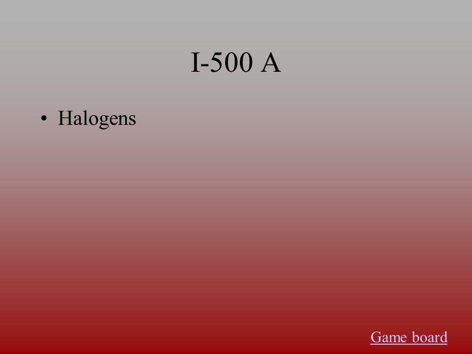 I-400 A Nobel gases Game board