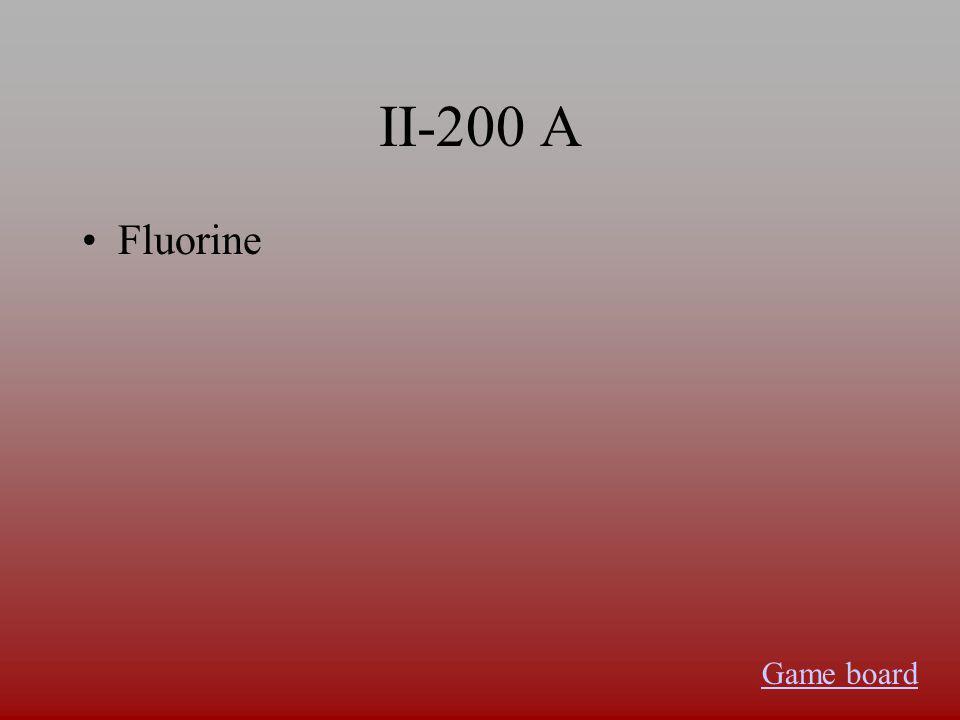 II-100 A Francium Game board