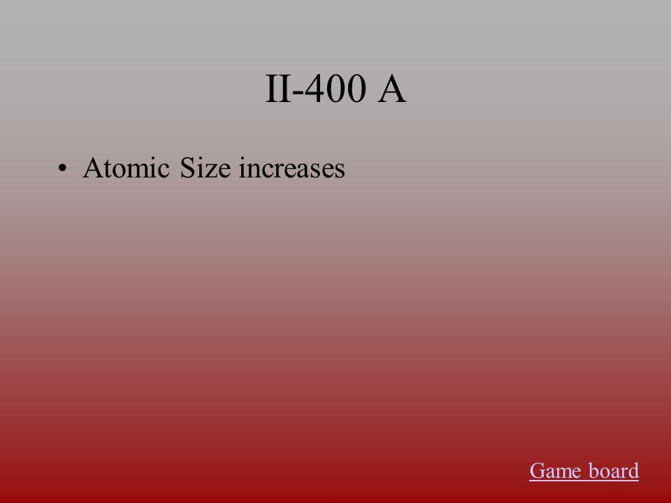 II-300 A Becomes more acidic Game board