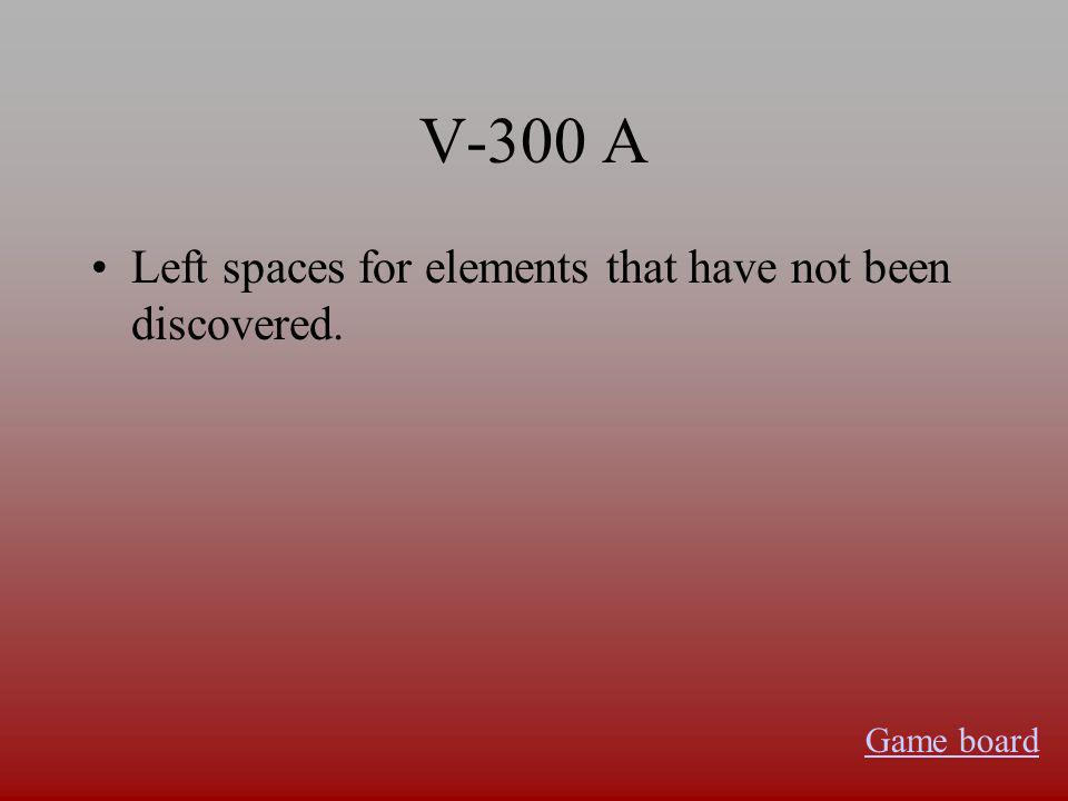 V-200 A Atomic Mass Game board