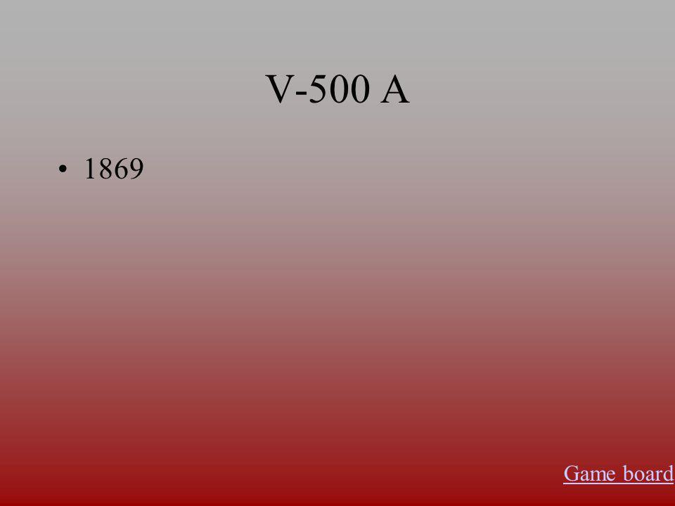 V-400 A John Newlands Game board