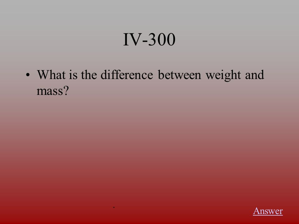 IV-200 What is a force Answer.