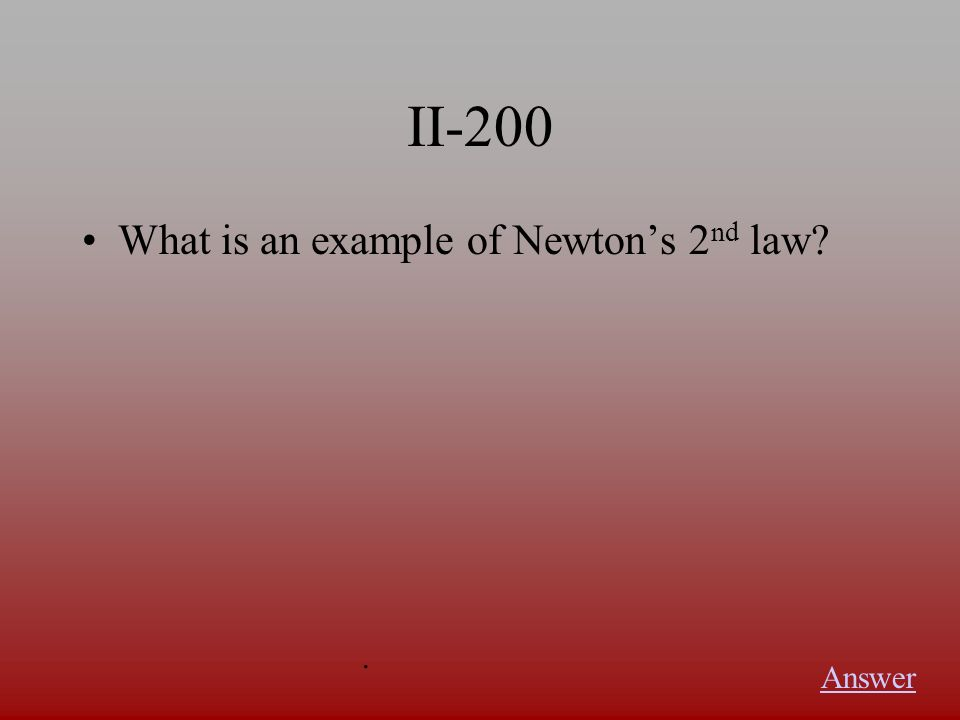 II-100 What is this law Answer.