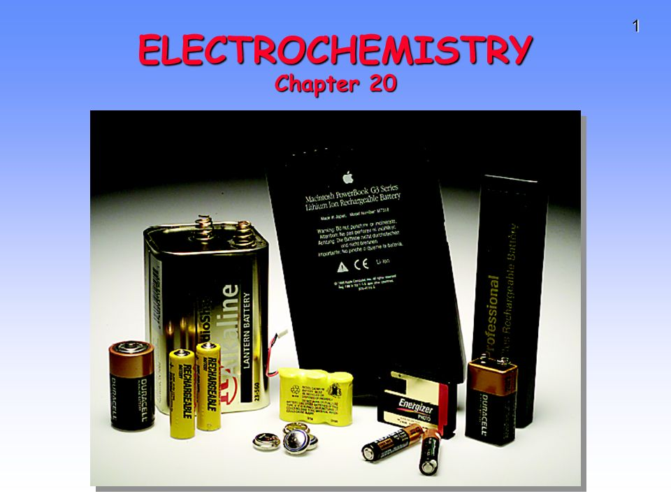 1 ELECTROCHEMISTRY Chapter 20