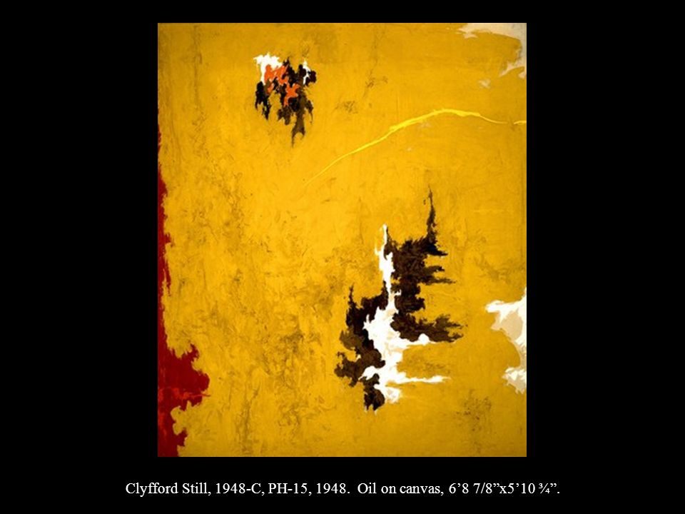 Clyfford Still, 1948-C, PH-15, 1948. Oil on canvas, 68 7/8x510 ¾.