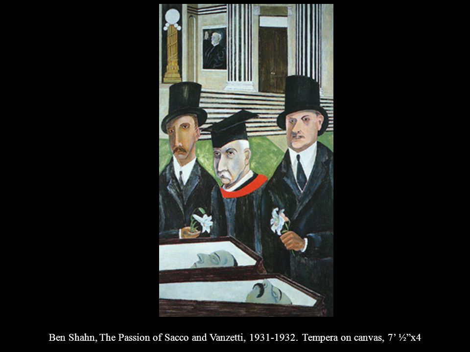 Ben Shahn, The Passion of Sacco and Vanzetti, 1931-1932. Tempera on canvas, 7 ½x4