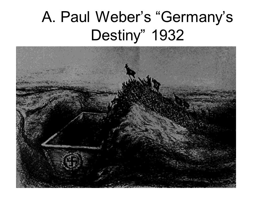 A. Paul Webers Germanys Destiny 1932