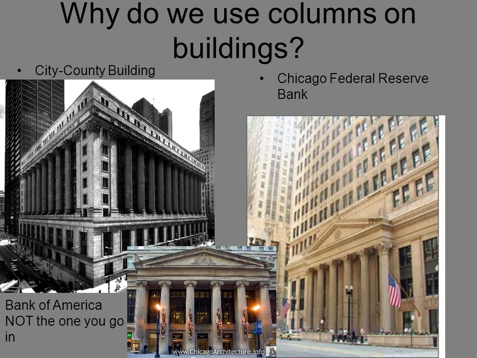 Why do we use columns on buildings.
