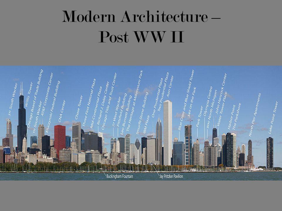 Modern Architecture – Post WW II