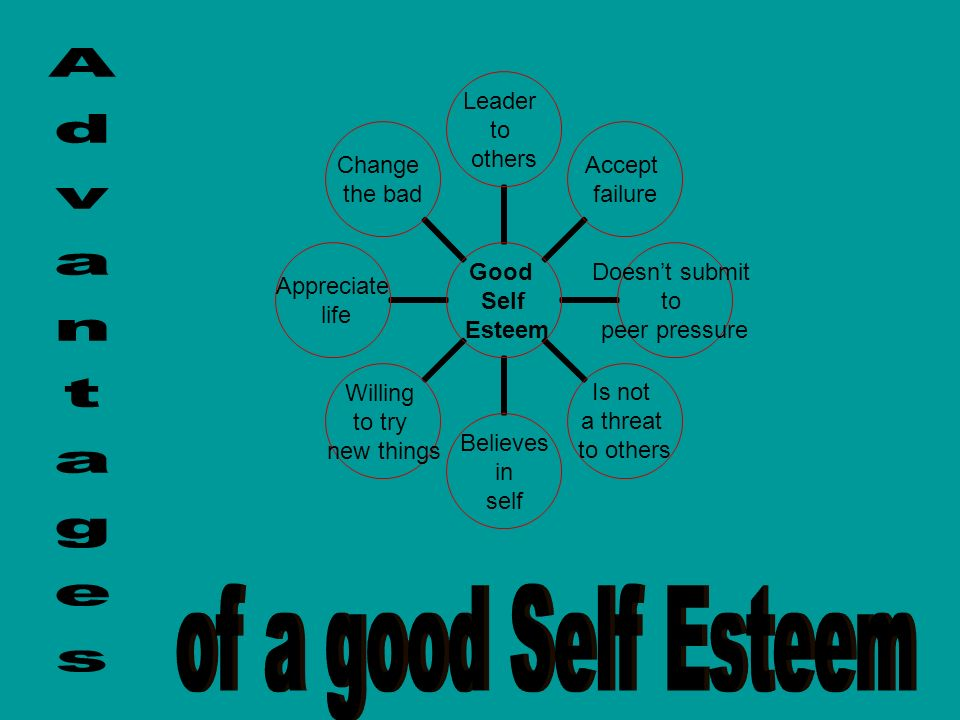 Good Self Esteem Leader to others Accept failure Doesnt submit to peer pressure Is not a threat to others Believes in self Willing to try new things A