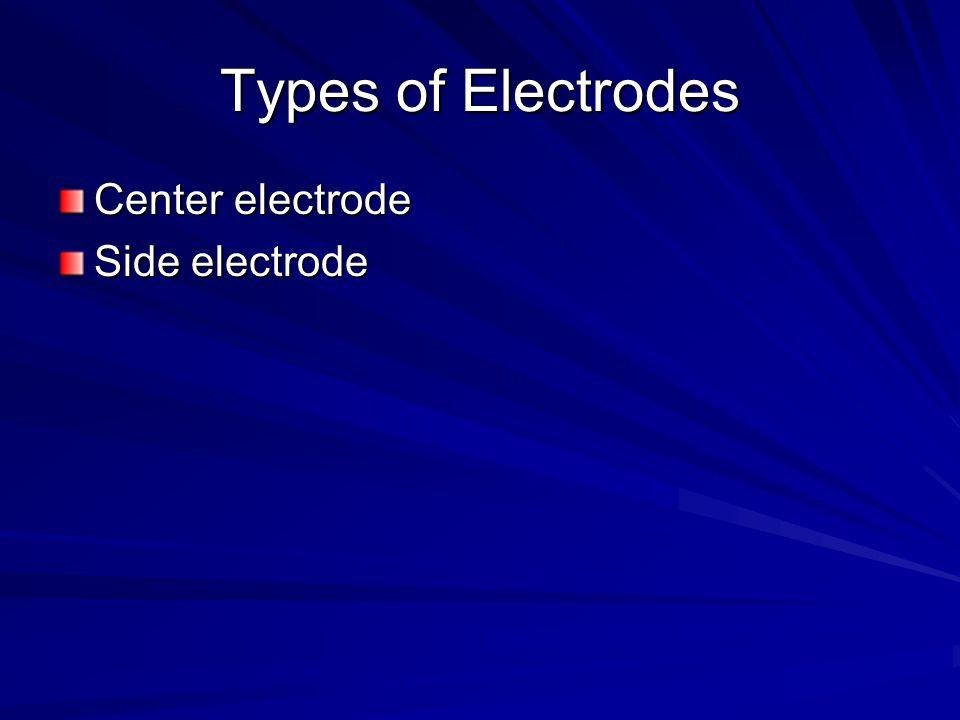 Types of Electrodes Center electrode Side electrode