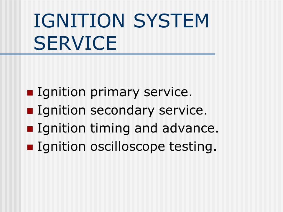 Ignition Timing Manual timing.Mechanical or centrifugal advance.