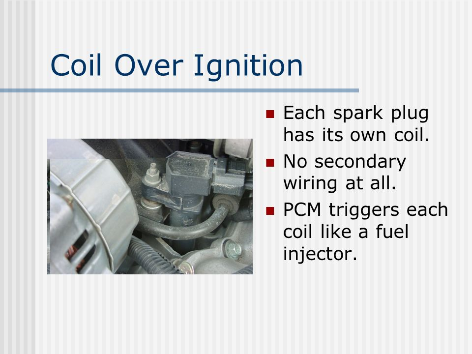 Direct Ignition No Distributor One Coil for Two Cylinders Waste Spark System One Plug Fires Backwards