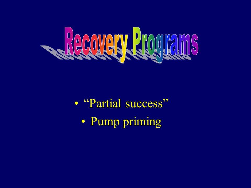 Partial success Pump priming