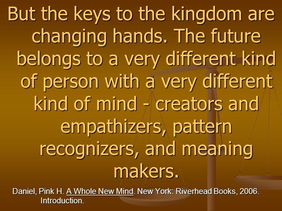 But the keys to the kingdom are changing hands.