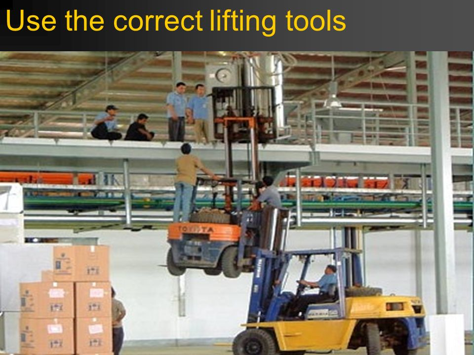 5 Personal Safety Lifting heavy objects Lifting cars Floor spills