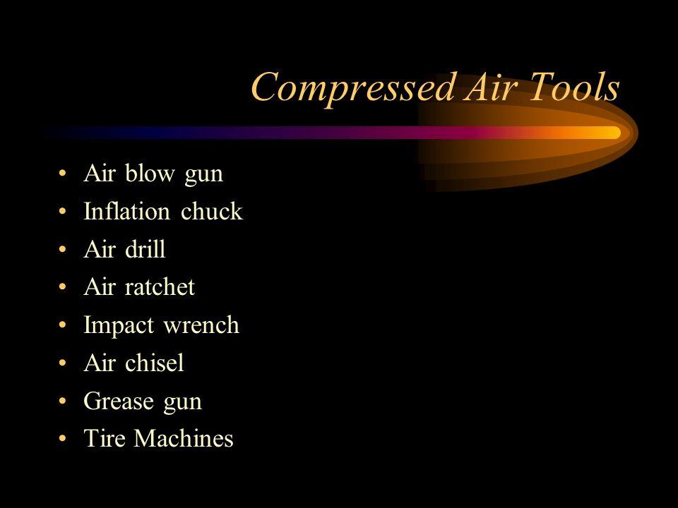 Compressed Air Tools Air blow gun Inflation chuck Air drill Air ratchet Impact wrench Air chisel Grease gun Tire Machines