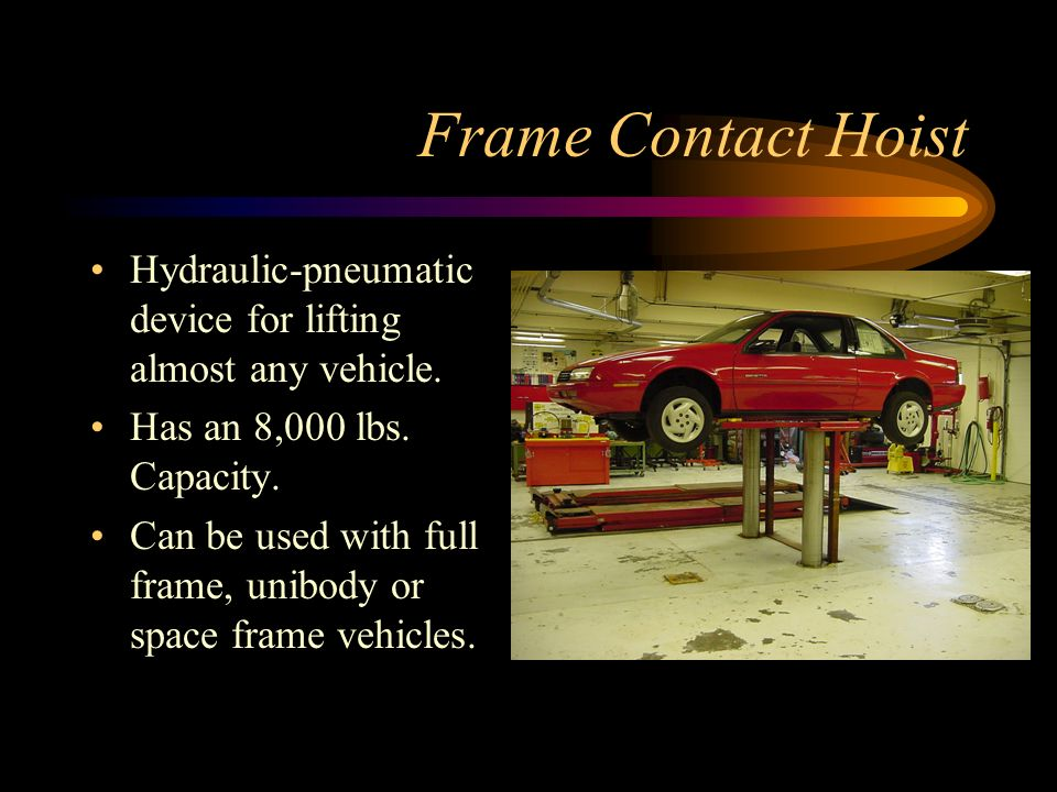 Frame Contact Hoist Controls Metal lever controls air pressure in and out.