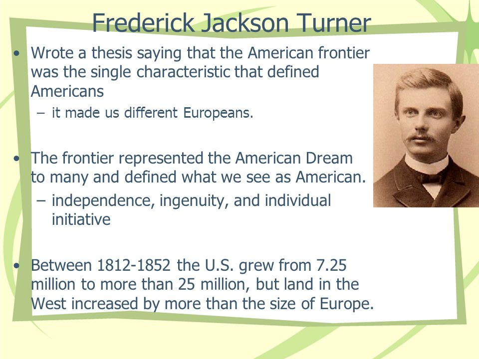 frederick jackson turners thesis