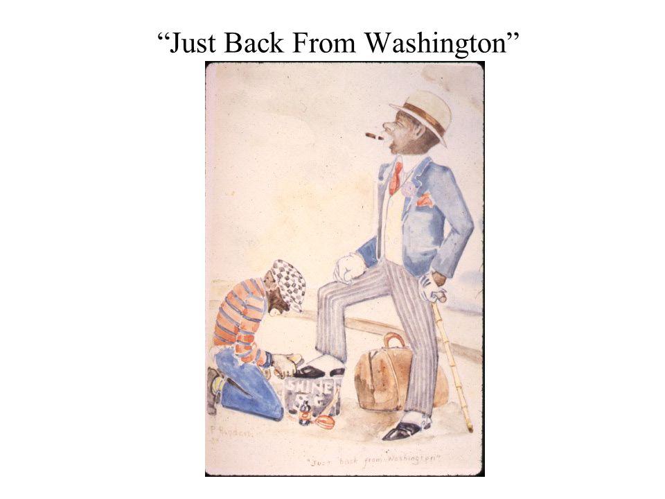 Just Back From Washington