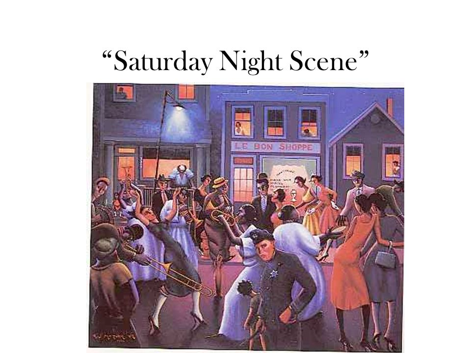Saturday Night Scene