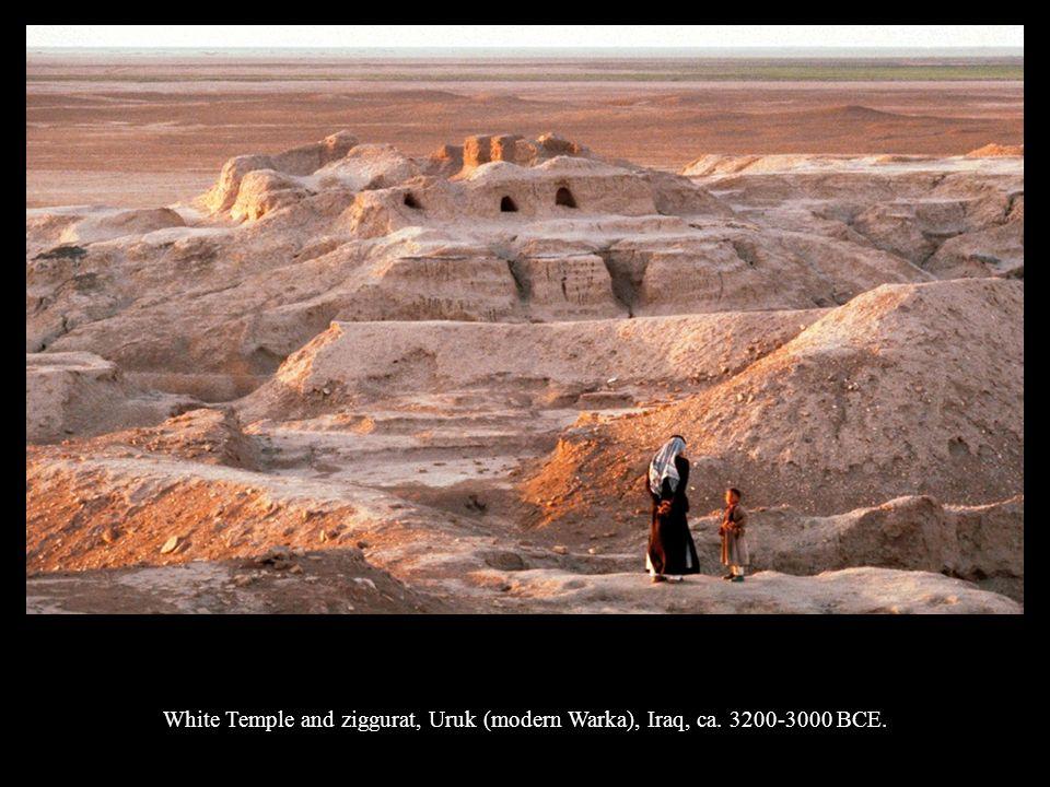 Reconstruction drawing of the White Temple and ziggurat, Uruk (modern Warka), Iraq, ca.