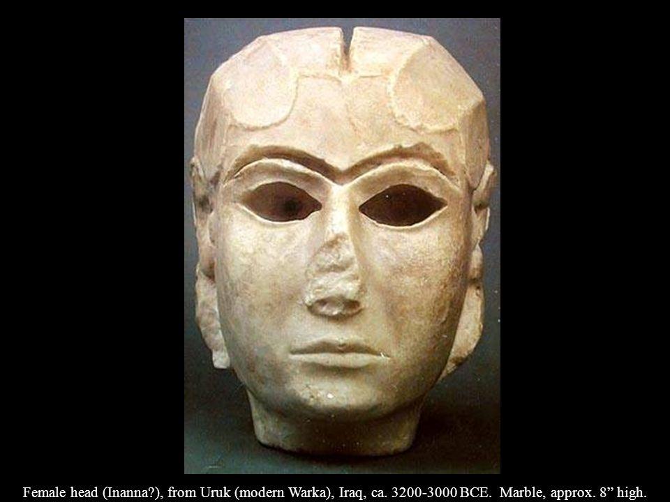 Presentation of offerings to Inanna (Warka vase), from Uruk (modern Warka), Iraq, ca.