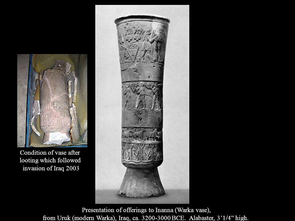 Seated statue of Gudea holding temple plan, from Girsu (modern Telloh), Iraq, ca.