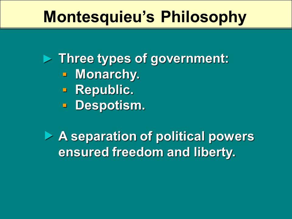 The Baron de Montesquieu (1689- 1755) Persian Letters, 1721 Persian Letters, 1721 On the Spirit of Laws, 1758 On the Spirit of Laws, 1758