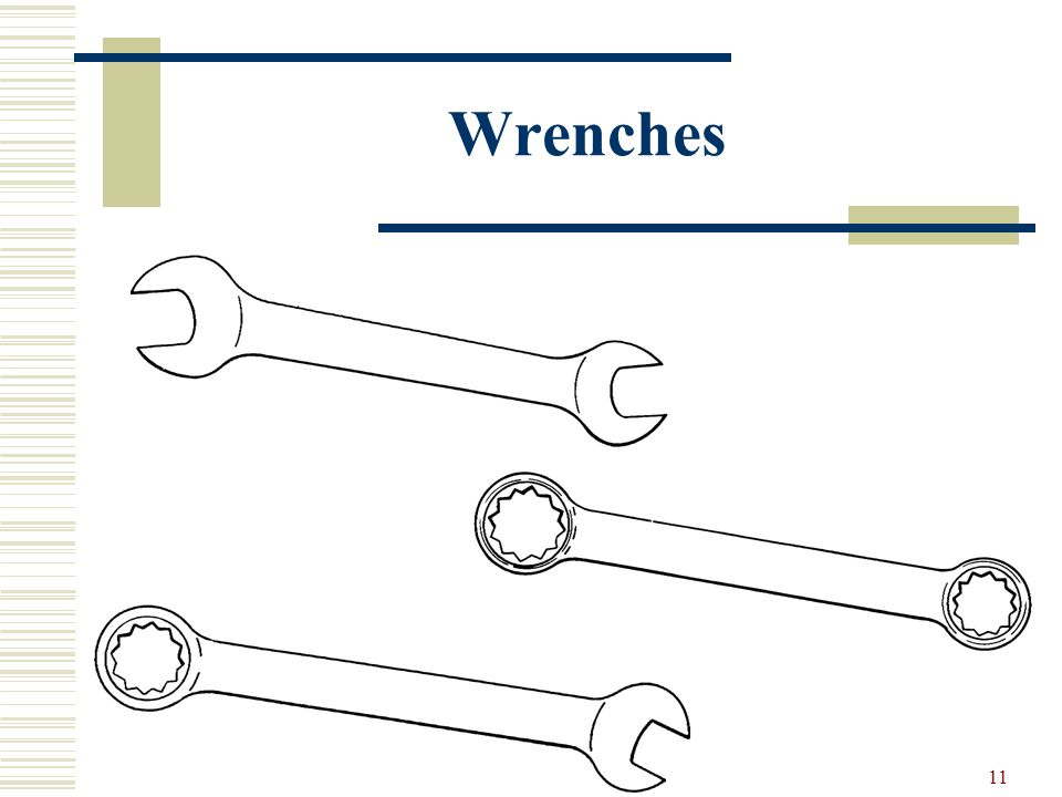 10 Wrenches Open endsBox end