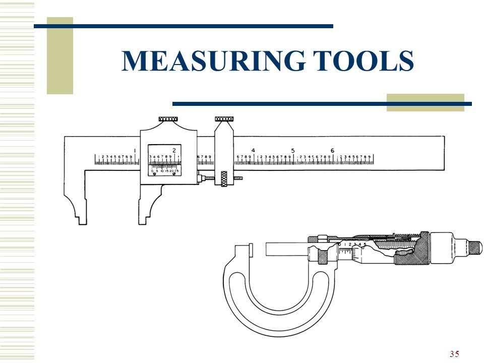 34 MEASURING TOOLS Mechanical measuring tools Fluid measuring tools Electrical measuring tools
