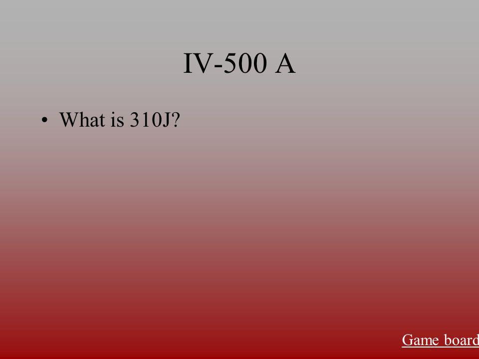 IV-400 A What is 70g Game board