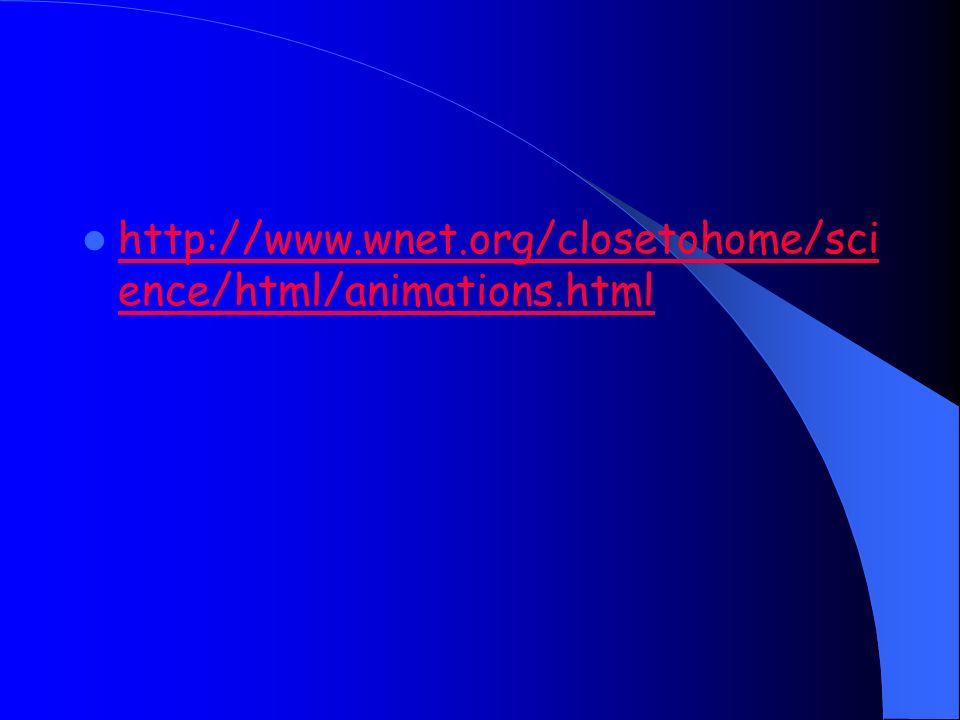 http://www.wnet.org/closetohome/sci ence/html/animations.html http://www.wnet.org/closetohome/sci ence/html/animations.html