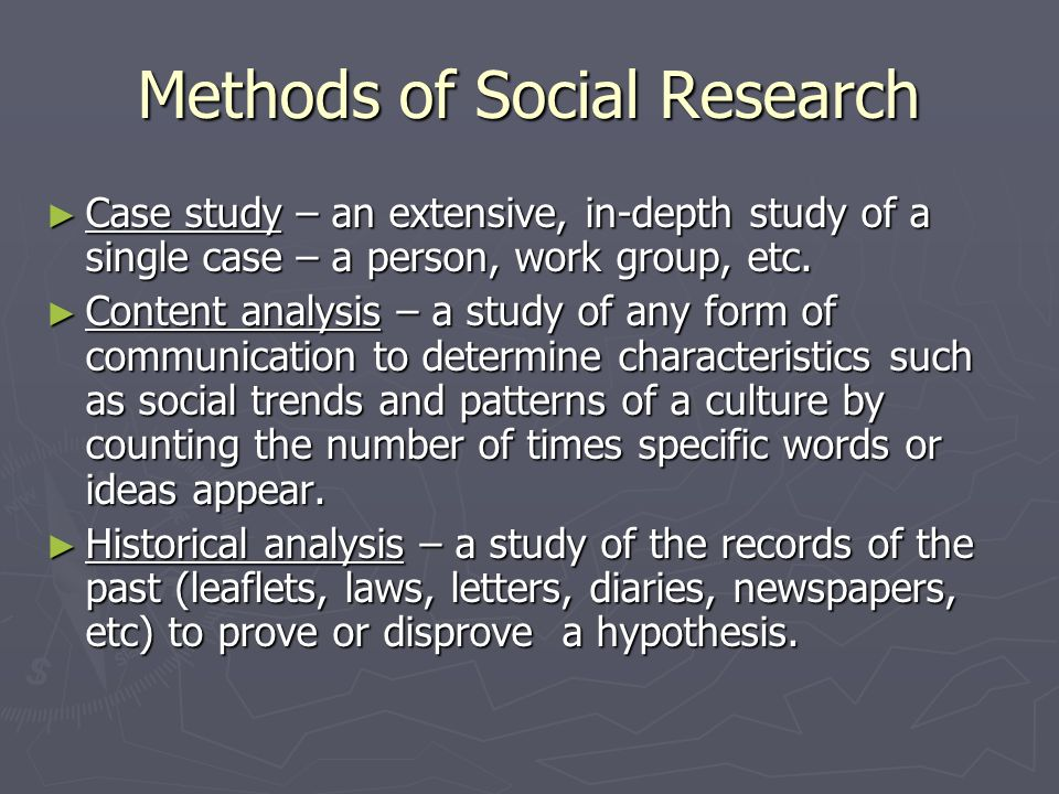 Methods of Social Research Natural observation – a researcher watches the behavior of groups in their natural setting. Natural observation – a researc