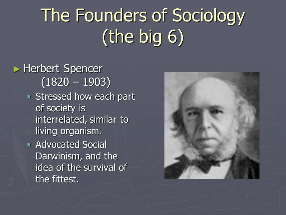 The Founders of Sociology (the big 6) August Comte (1798-1857) August Comte (1798-1857) Father of Sociology Father of Sociology Positivism Positivism