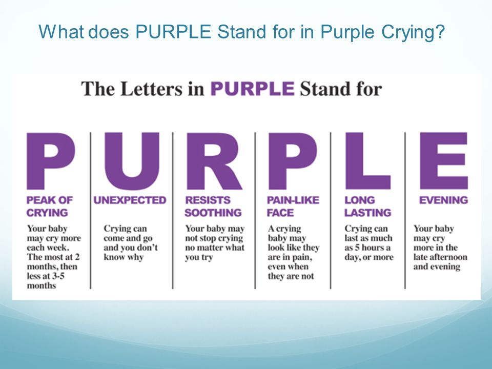 What does PURPLE Stand for in Purple Crying?