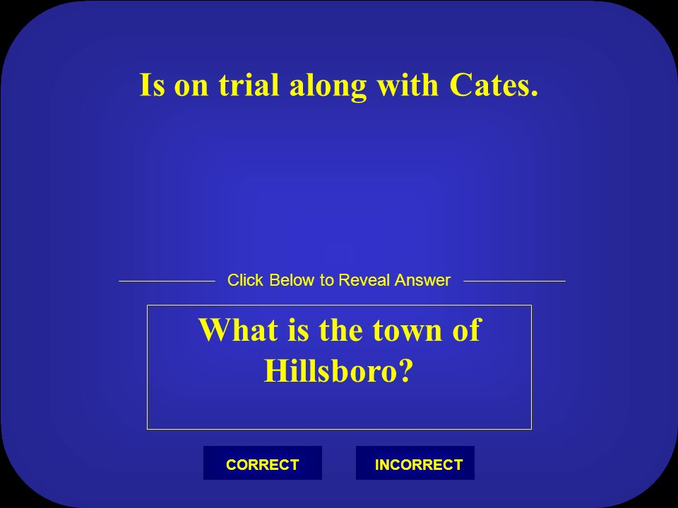 Was absent at the picnic when Hornbeck announced that Drummond was the defense attorney. Who is Matthew Harrison Brady? Click Below to Reveal Answer I